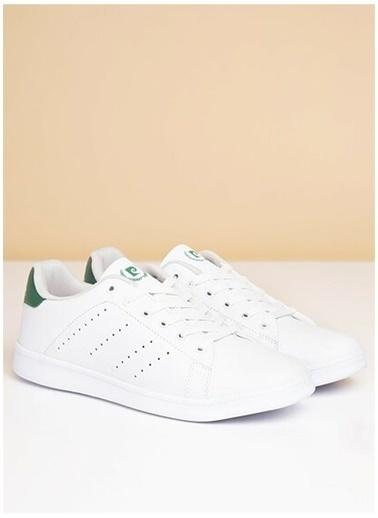 Pierre Cardin Pierre Cardin Erkek Beyaz-Yeşil Sneaker Renkli